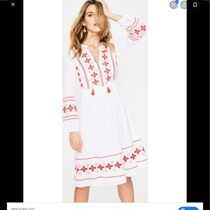 Boden Marla 10 P white embroidered peasant dress